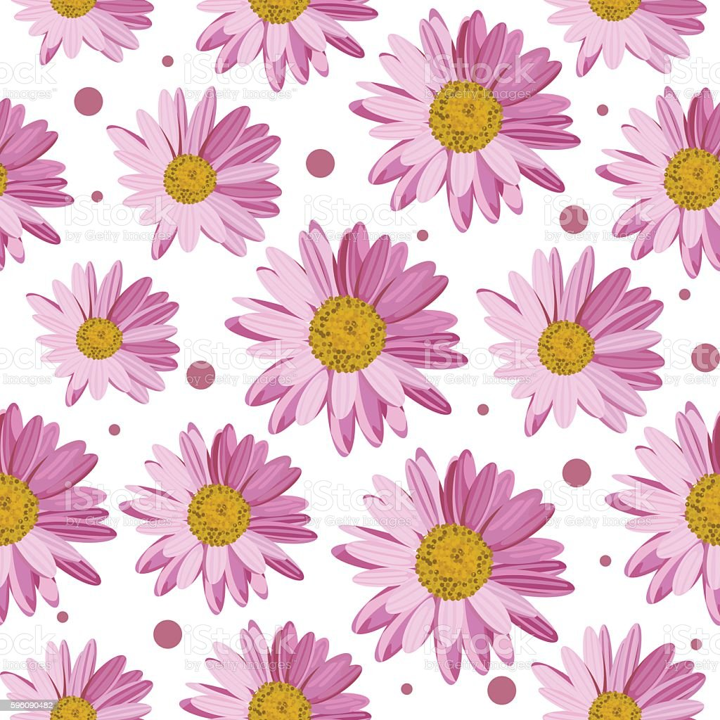 Seamless pattern with daisy flowers royalty-free seamless pattern with daisy flowers stock vector art & more images of abstract