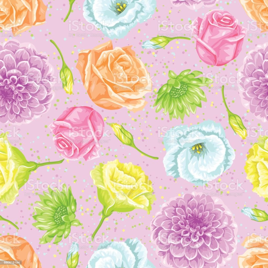 Seamless pattern with decorative delicate flowers easy to use for seamless pattern with decorative delicate flowers easy to use for backdrop textile wrapping mightylinksfo