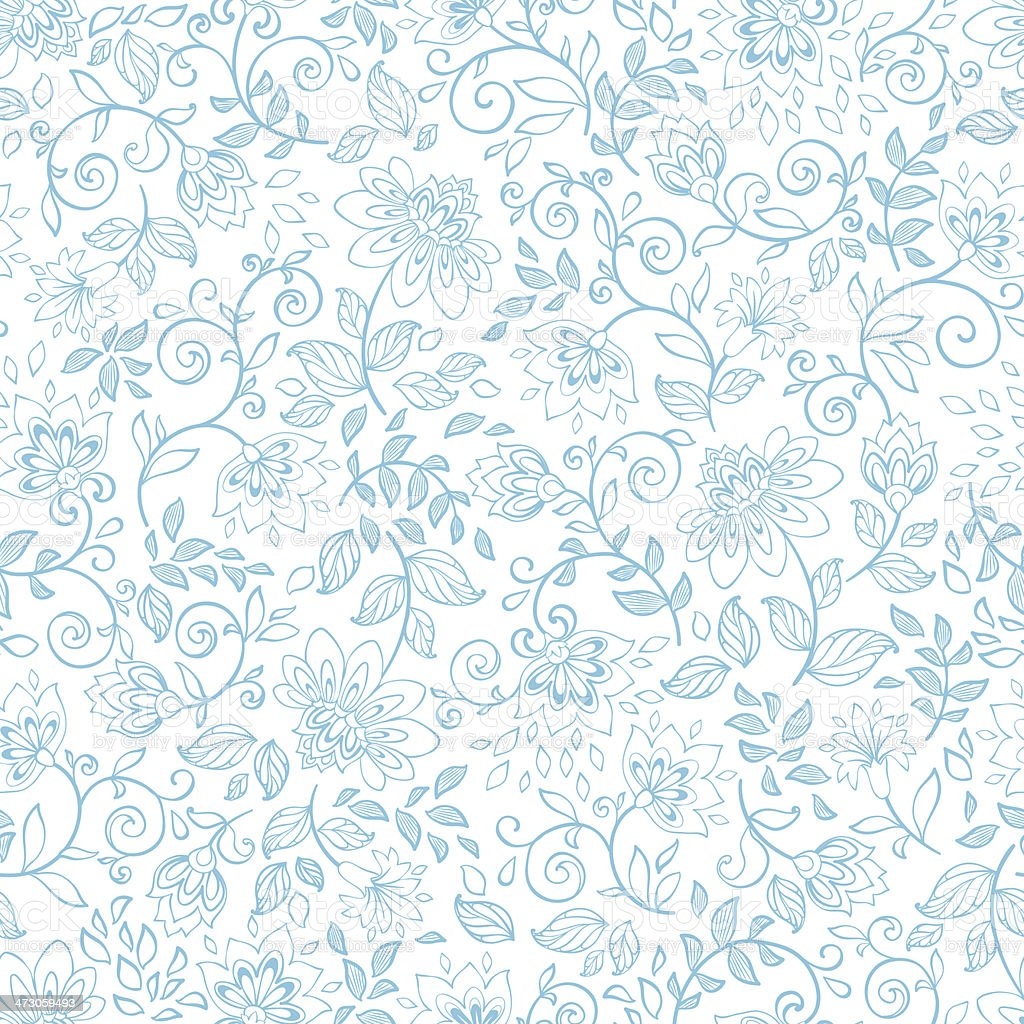 Seamless pattern with decorative flowers. vector art illustration