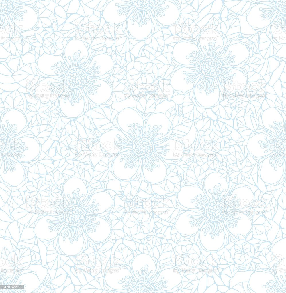 Seamless pattern with decorative flowers. royalty-free stock vector art