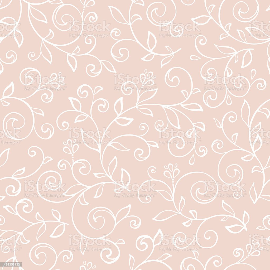 Seamless pattern with decorative flowers vector art illustration