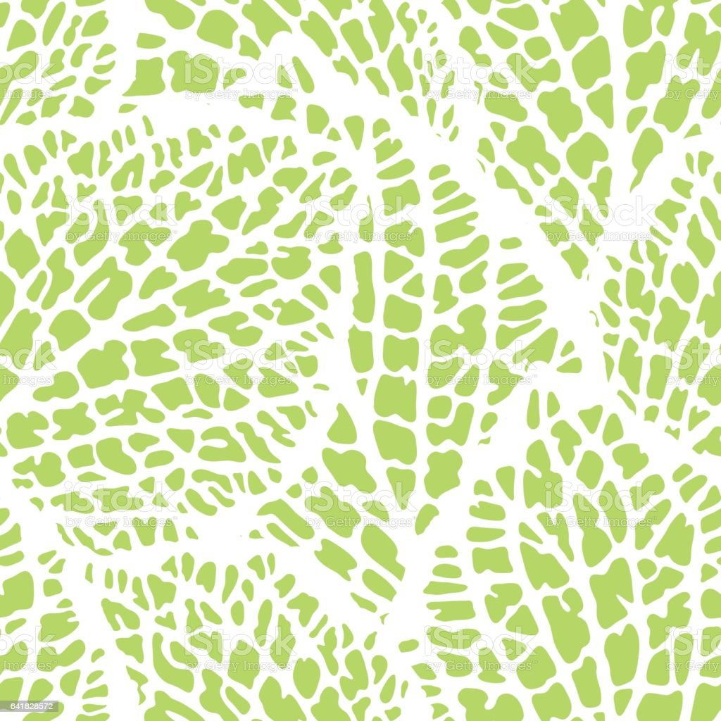 Seamless pattern with decorative leaves. Natural detailed illustration vector art illustration