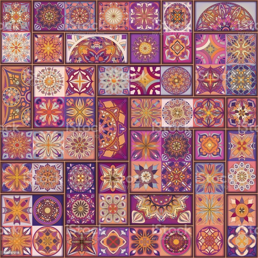 Nahtlose Muster Mit Dekorativen Mandalas Vintage Mandala Elemente ...