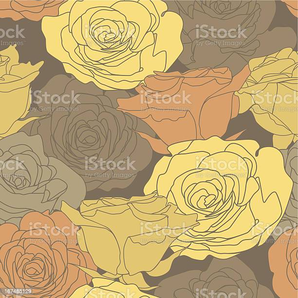 Seamless pattern with decorative roses flowers in brown colors vector id167485129?b=1&k=6&m=167485129&s=612x612&h=k3nkwdlodzxqzefvawhx97xhdqokwrihwsvxxzmsomq=