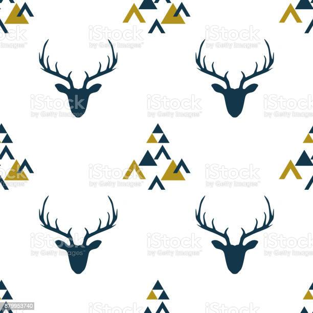 Seamless pattern with depicted silhouettes of scandinavian deer vector id879953740?b=1&k=6&m=879953740&s=612x612&h=xp10r6zr79nnfggbuh5fiykt8e x1jgtoqpfgphkhim=