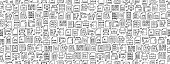 istock Seamless Pattern with Document Icons 1224257229