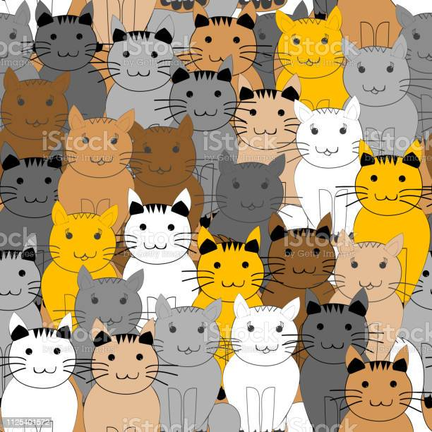 Seamless pattern with doodle cats vector id1125401572?b=1&k=6&m=1125401572&s=612x612&h=tkwxvekhthuuhrmufzkgt8a15pey5s9cbmnfwycrz6m=