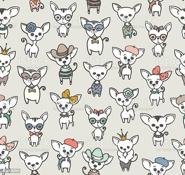 Seamless pattern with doodles dog chihuahua vector id602338334?b=1&k=6&m=602338334&s=612x612&h=jlyeszpnoknyxjf4 lz31rsp78xcgdh8pasehldwhsk=