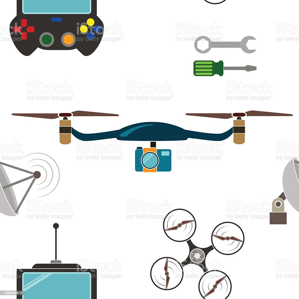 Seamless pattern with drone icons royalty-free seamless pattern with drone icons stock vector art & more images of air vehicle