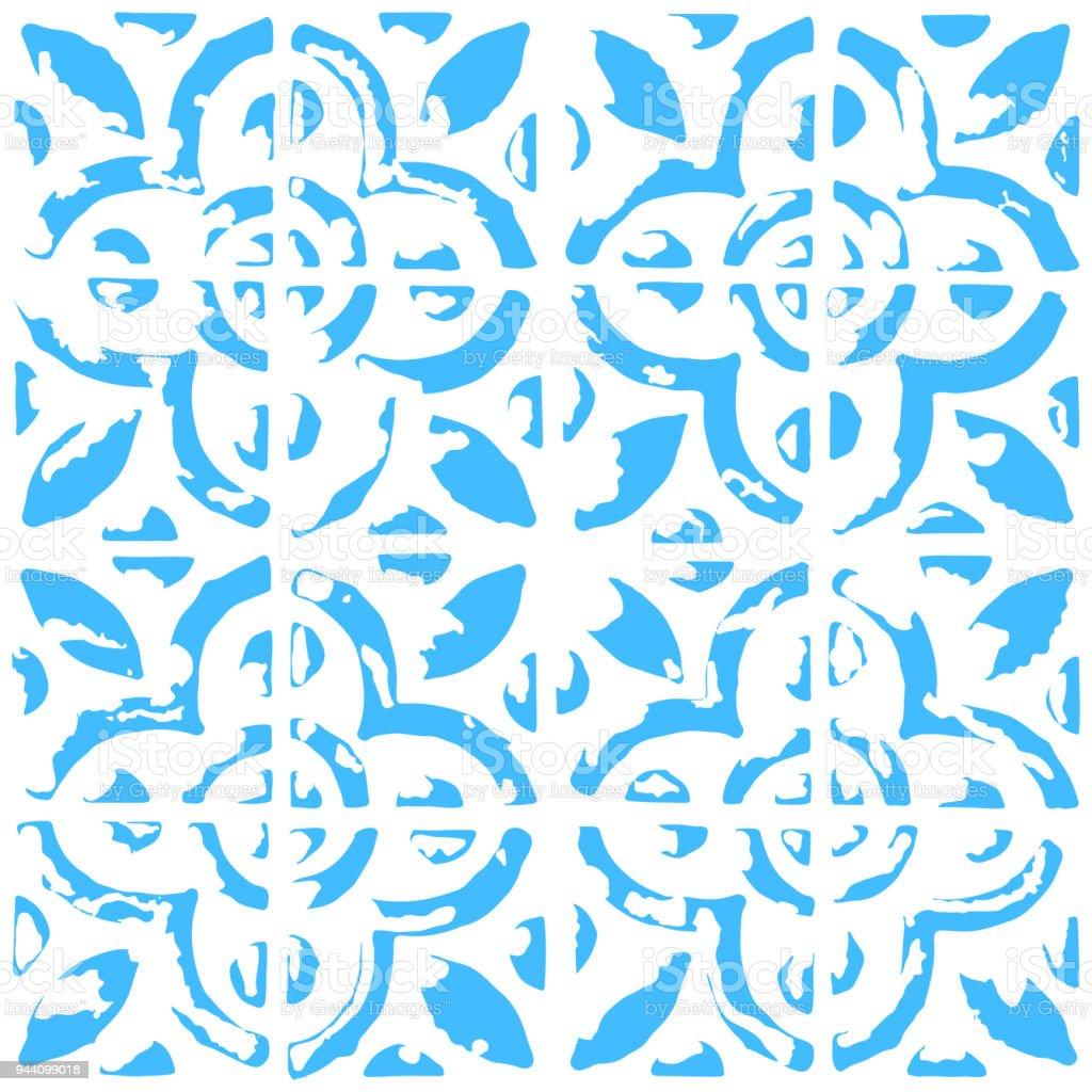 Nahtloses Muster Mit Niederländischen Ornamenten In Delft Küche ...