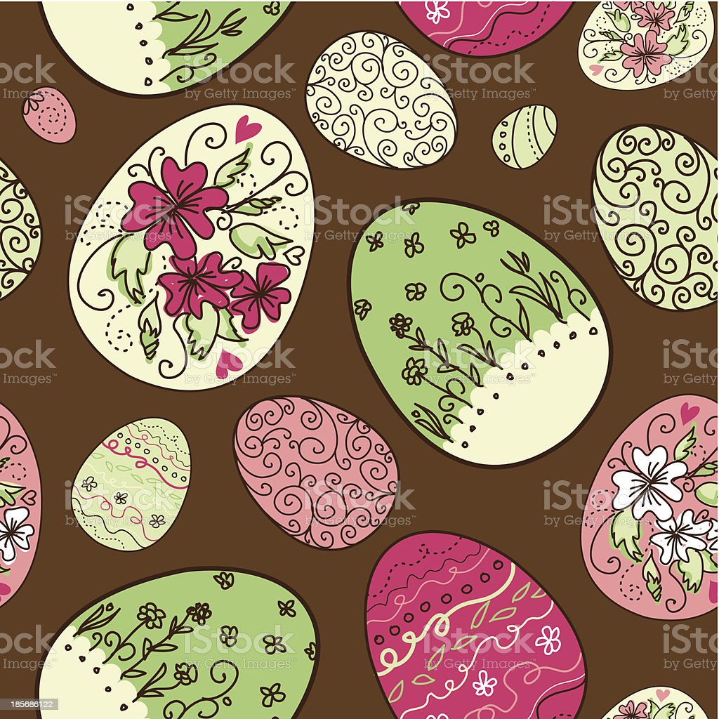 Seamless pattern with Easter eggs royalty-free seamless pattern with easter eggs stock vector art & more images of abstract