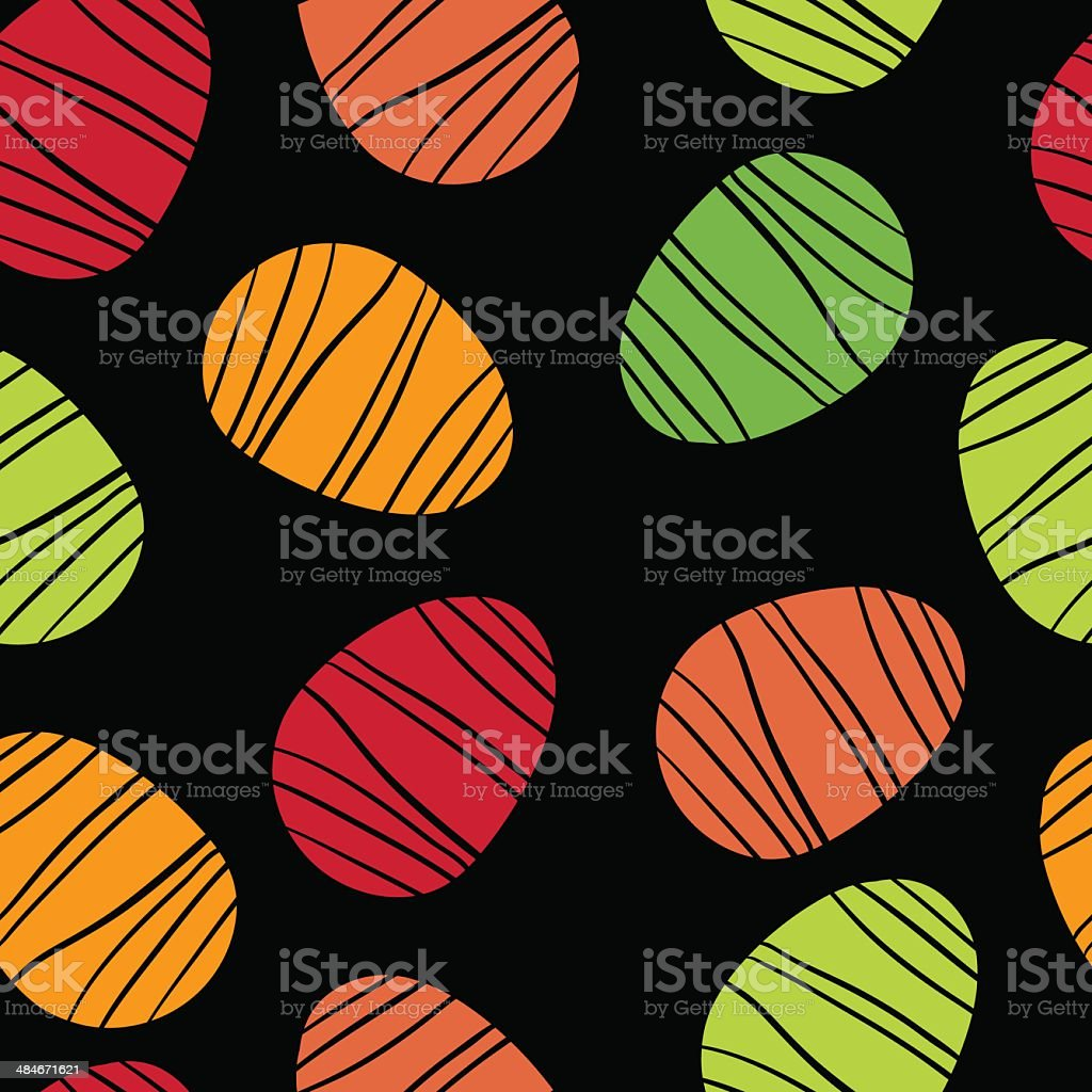 Seamless pattern with Easter eggs royalty-free stock vector art