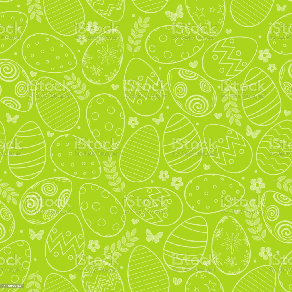Seamless pattern with Easter eggs vector art illustration
