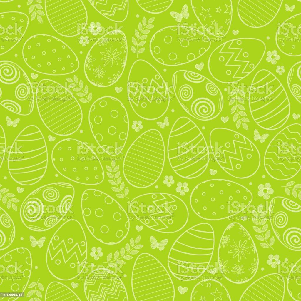 Motif sans couture avec oeufs de Pâques - Illustration vectorielle
