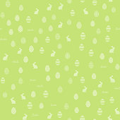 Seamless pattern with Easter ornaments. Vector