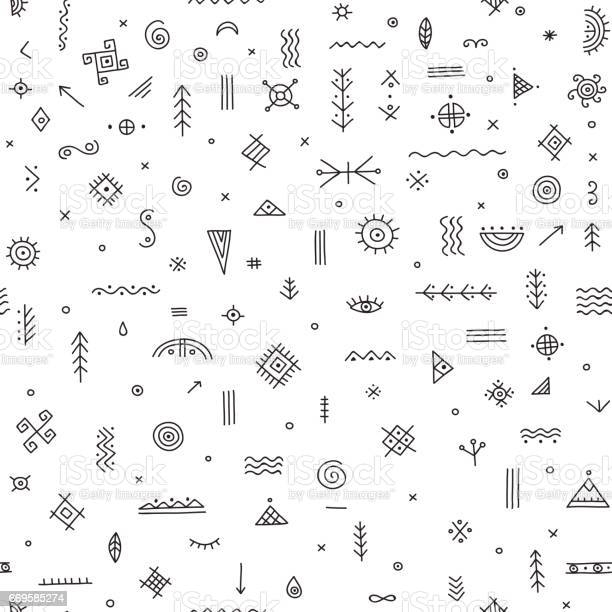 Seamless pattern with ethnic tribal symbols vector id669585274?b=1&k=6&m=669585274&s=612x612&h=imwyqgtfh3ipzflenapxgrp0dzhoo xpy8kqyrejpgm=