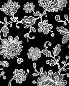 Seamless pattern with fantasy flowers. Vector abstract seamless floral pattern. Lase pattern. Template can be used for wallpaper, pattern fills, web page background,surface textures.