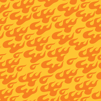 Seamless pattern with fire flames in Chinese style