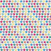 Seamless pattern with five-finger or five point bright stars hav