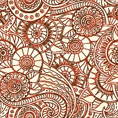 Seamless pattern with flowers. Ornate texture.