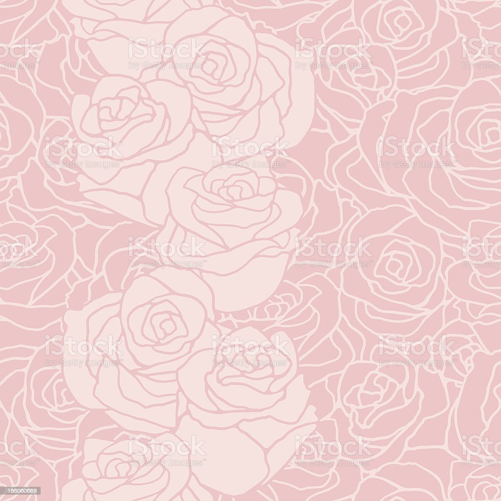 Seamless pattern with flowers roses. royalty-free stock vector art