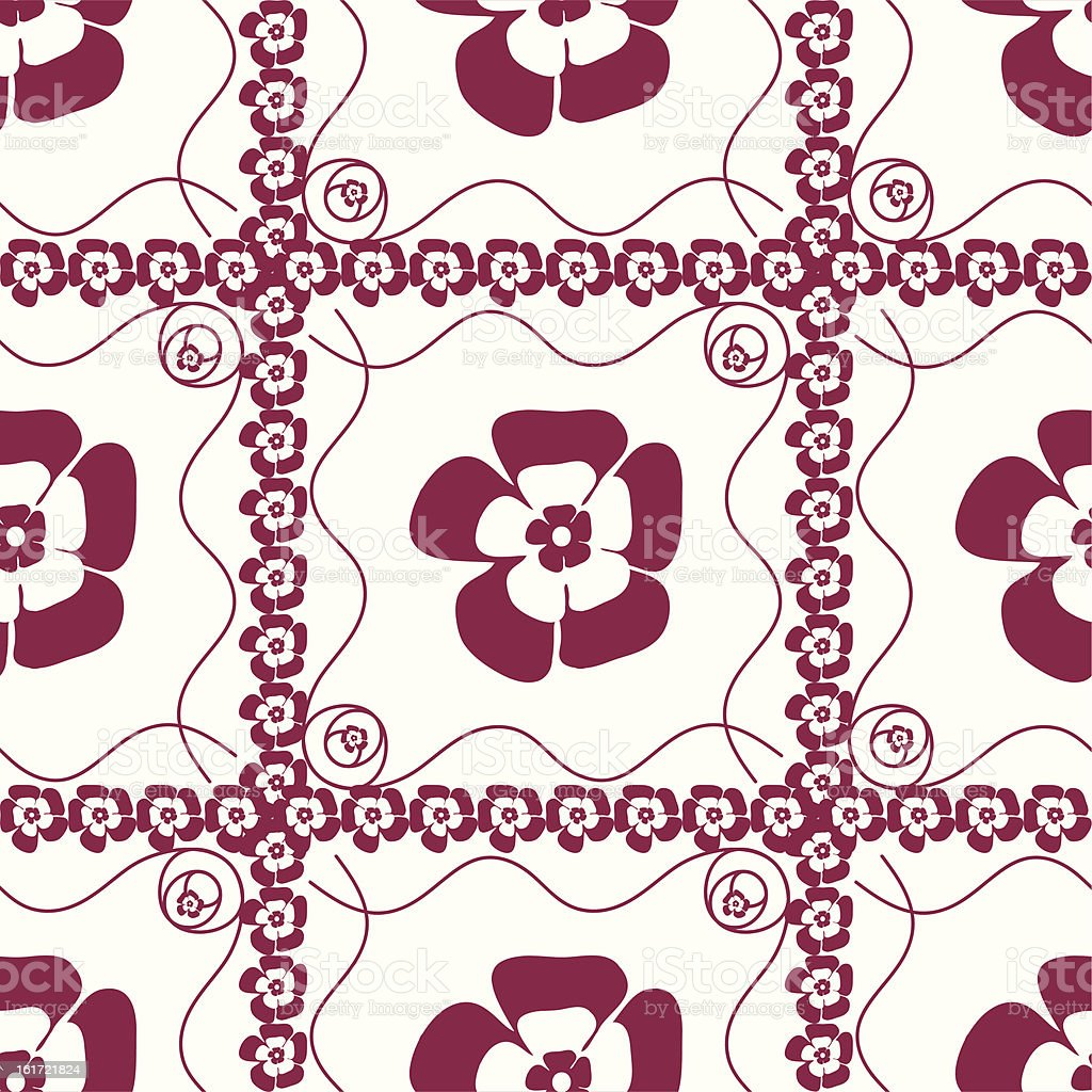 Seamless pattern with flowers royalty-free stock vector art