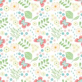 istock Seamless pattern with flowers 583695854
