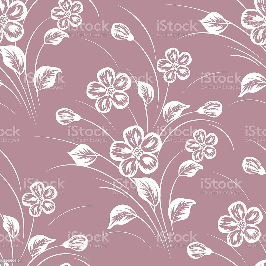 Seamless pattern with flowers royalty-free seamless pattern with flowers stock vector art & more images of abstract