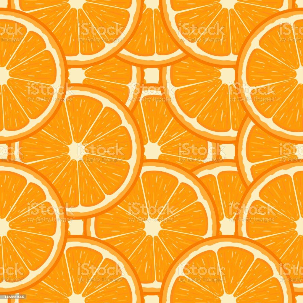 新鮮なハーフオレンジフルーツとシームレスなパターンタンジェリンオーガニックフルーツ漫画のスタイルデザインウェブ包装紙生地壁紙のためのベクターイラスト かんきつ類のベクターアート素材や画像を多数ご用意 Istock
