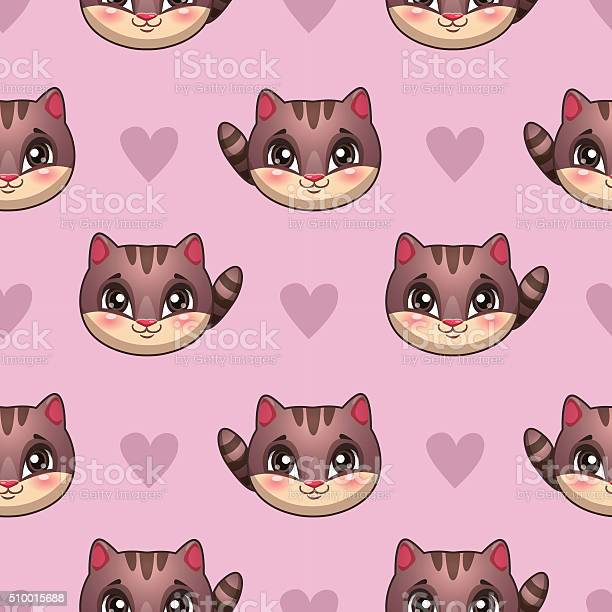 Seamless pattern with funny cat faces vector id510015688?b=1&k=6&m=510015688&s=612x612&h=vanw8eayh8yddzvyhxmkt5z pzcfyjt1nlm73nd w34=
