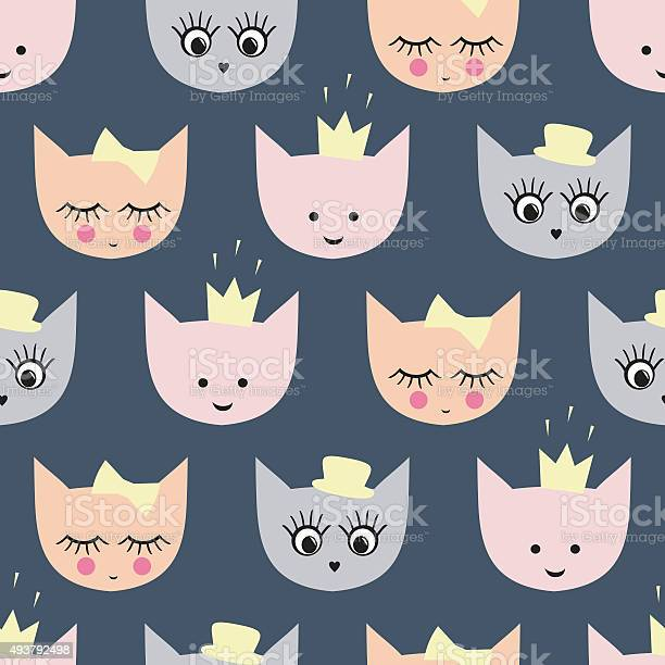 Seamless pattern with funny girlish cats with stylish accessories vector id493792498?b=1&k=6&m=493792498&s=612x612&h=goibsle5krx8 yzk92nbbc tn2bywhz6tr1sx4wajvy=