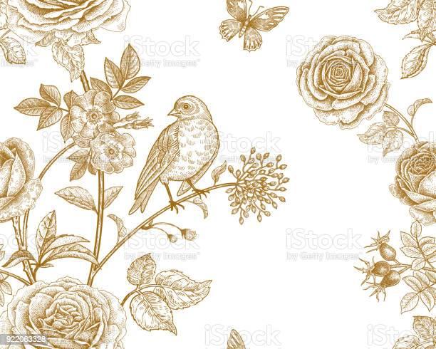 Seamless pattern with garden flowers and birds vector id922063328?b=1&k=6&m=922063328&s=612x612&h=zhjjum8qakcvwatzedstlrfv8xfuovyjikmpwq9cusm=