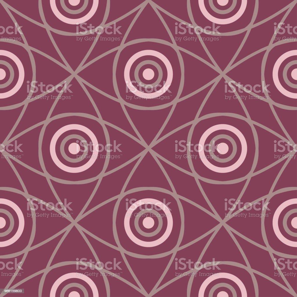 Motivo senza cuciture con elementi geometrici. Sfondo rosso scuro - arte vettoriale royalty-free di Astratto