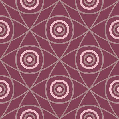 Ilustración de Patrón Sin Fisuras Con Elementos Geométricos Fondo Rojo Oscuro y más Vectores Libres de Derechos de Abstracto