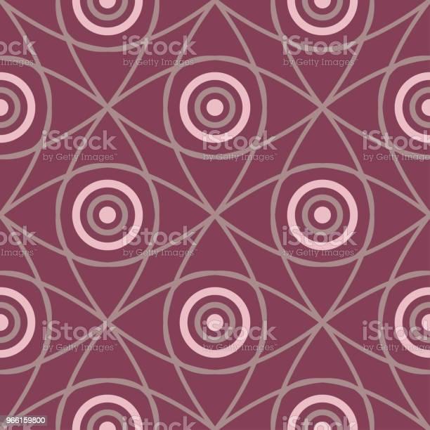 Motivo Senza Cuciture Con Elementi Geometrici Sfondo Rosso Scuro - Immagini vettoriali stock e altre immagini di Astratto