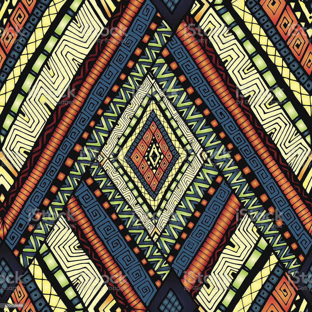 Seamless pattern with geometric elements. vector art illustration