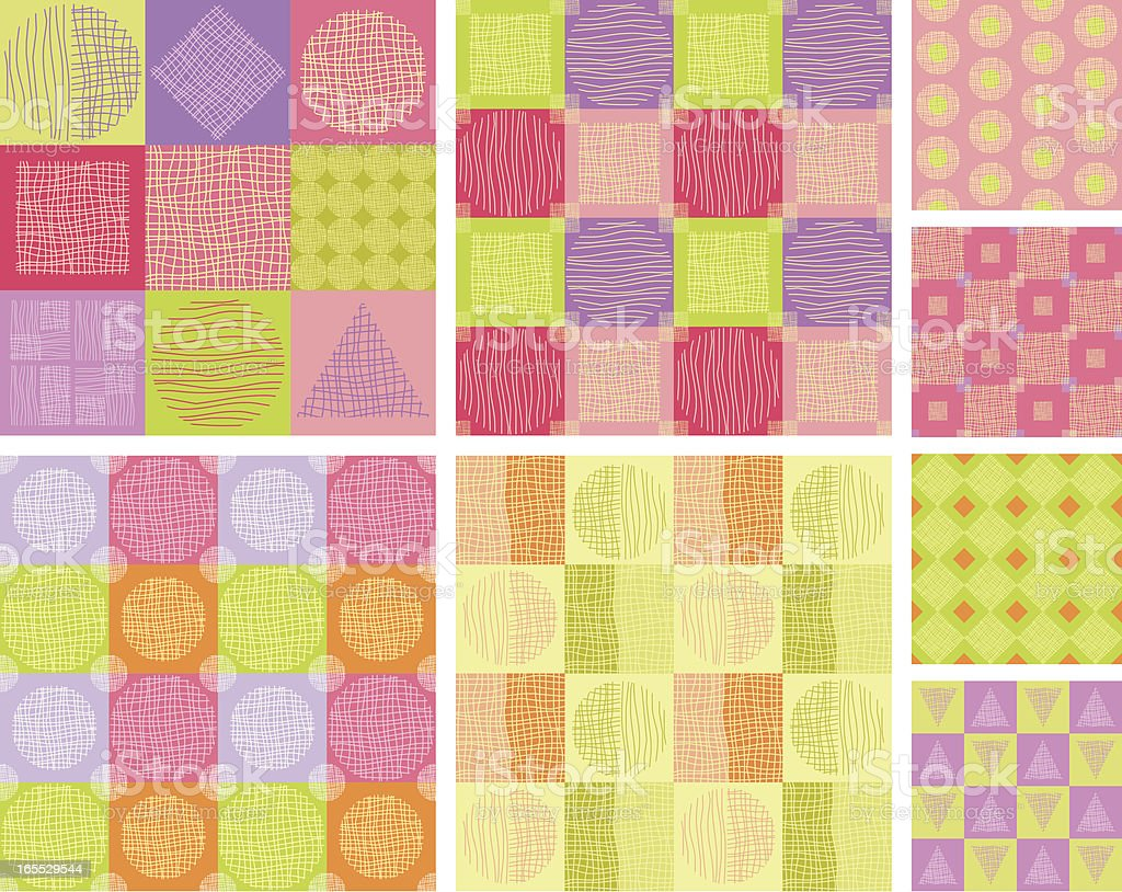 Seamless pattern with geometric shapes royalty-free stock vector art