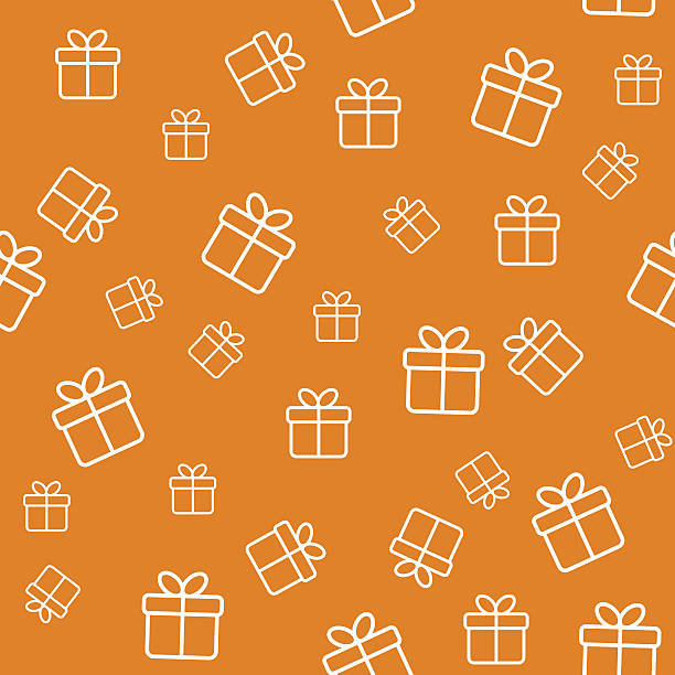 Seamless pattern with gift boxes Seamless funny pattern with gift boxes. Wrapping or background birthday designs stock illustrations