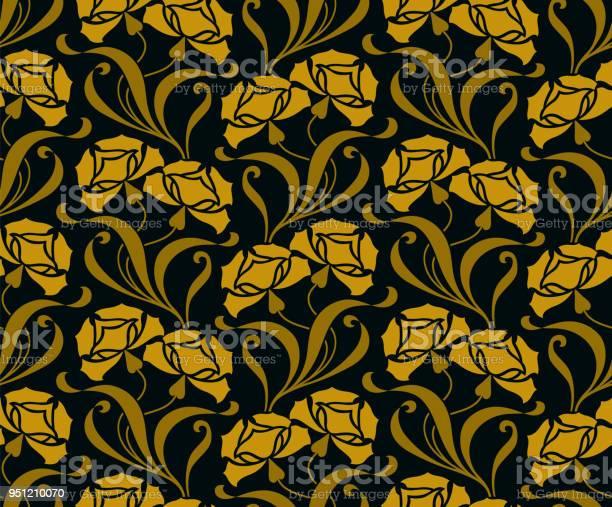 Seamless pattern with golden flowers vector id951210070?b=1&k=6&m=951210070&s=612x612&h=shlmt5agnzf4vonnuysllxd0mdypri cy wf9mcqoay=