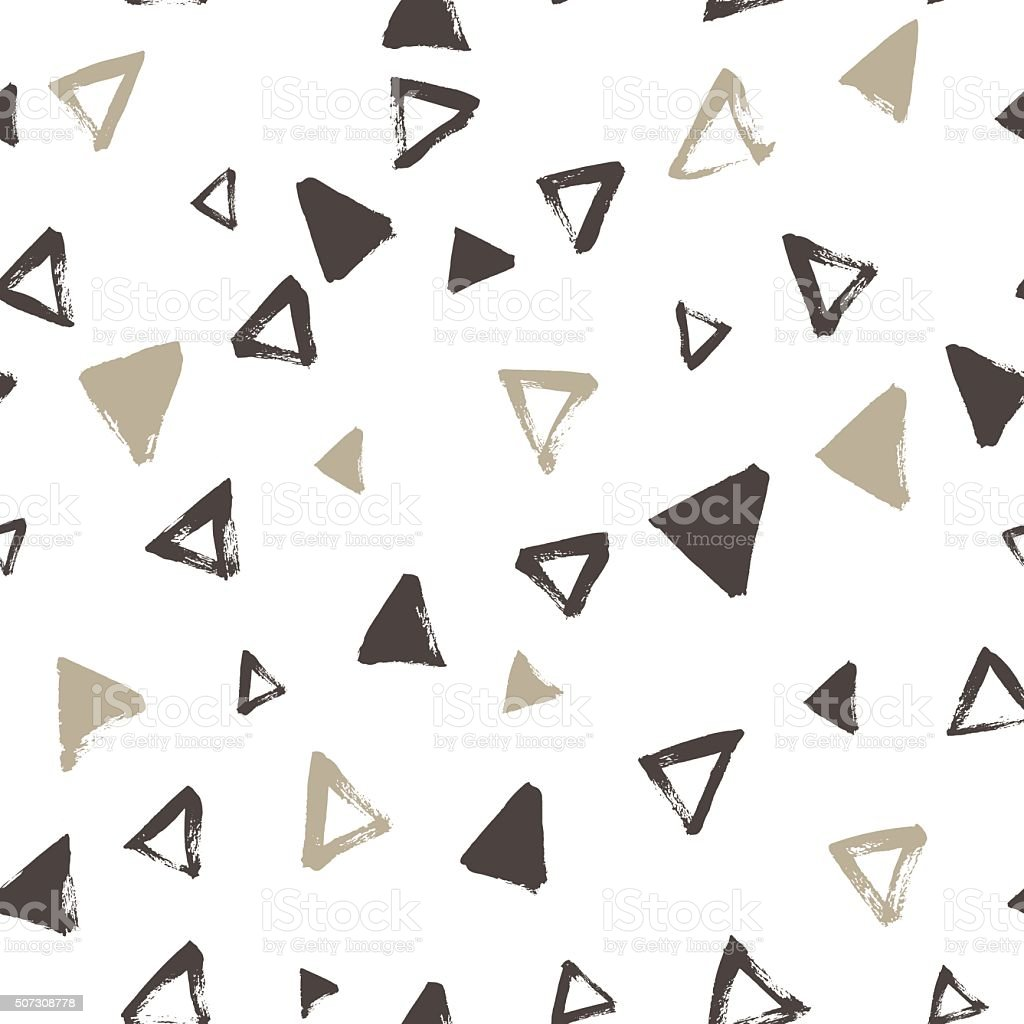 Seamless pattern with hand drawing triangles. vector art illustration