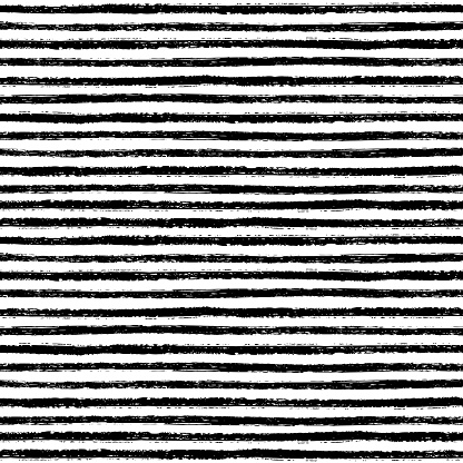 Seamless pattern with hand drawn brush stripes