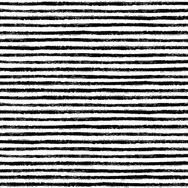 seamless pattern with hand drawn brush stripes - 構圖 幅插畫檔、美工圖案、卡通及圖標
