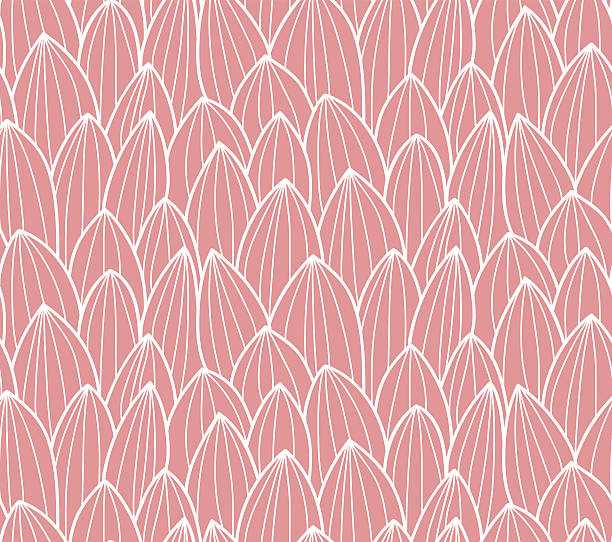Seamless pattern with hand drawn cactus grid vector art illustration