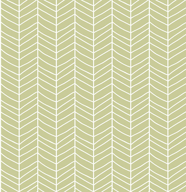 Seamless pattern with hand drawn chevron line grid, vector illustration vector art illustration