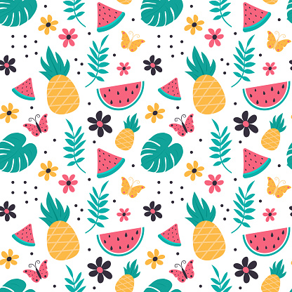seamless pattern with hand drawn elements