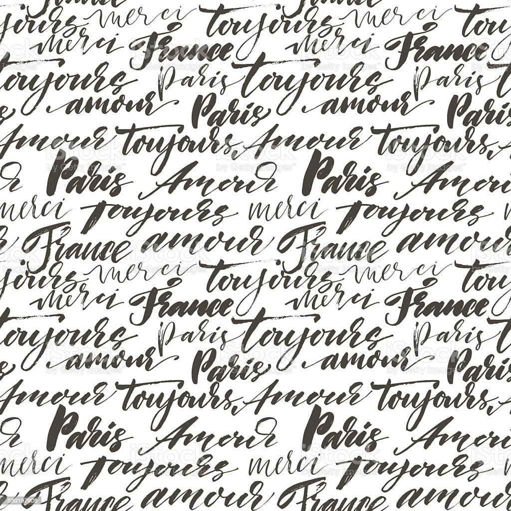 royalty free seamless pattern with hand drawn french words clip art rh istockphoto com French Map Clip Art French Class Clip Art