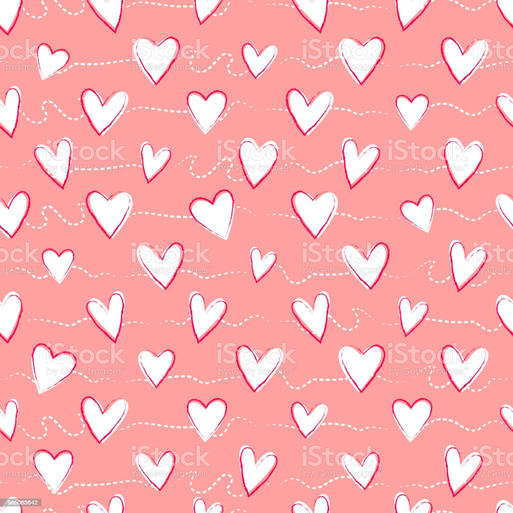 Seamless pattern with hand drawn hearts royalty-free seamless pattern with hand drawn hearts stock vector art & more images of abstract