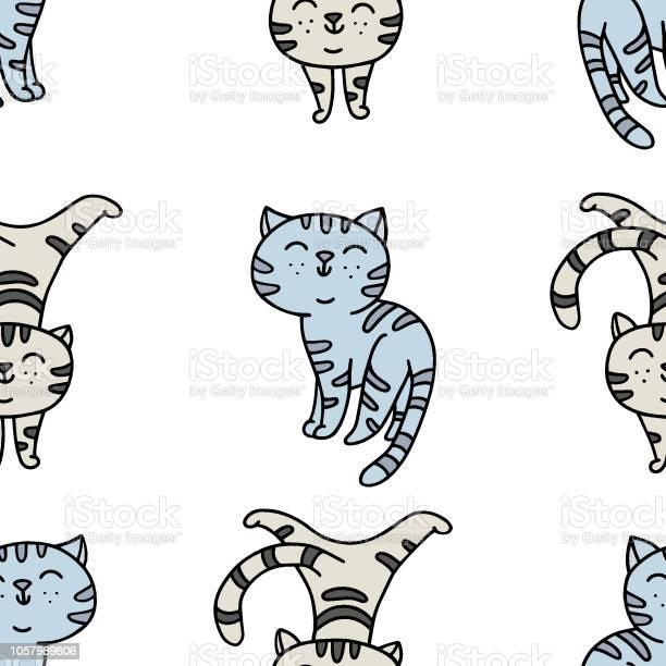 Seamless pattern with handdrawn playful kittens vector id1057989806?b=1&k=6&m=1057989806&s=612x612&h=0hrajujnvmesn mqcn3ebctlicuthm3htgx6aghx8cw=