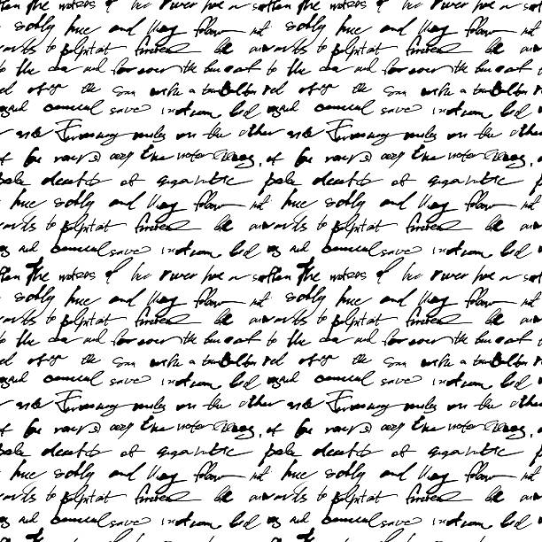 Seamless pattern with handwriting text EPS8. Contains no transparency and gradients. book patterns stock illustrations