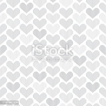 istock Seamless pattern with hearts 1197992325